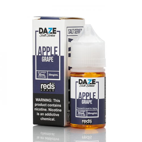 7 Daze Salt Series Vape Juice - Red's Apple Grape