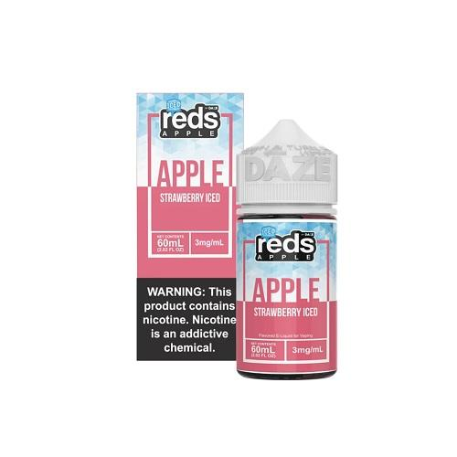 7 Daze Vape Juice - Red's Apple Strawberry Iced