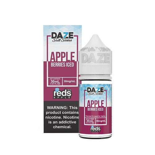 7 Daze Salt Series Vape Juice - Red's Apple Berries Iced
