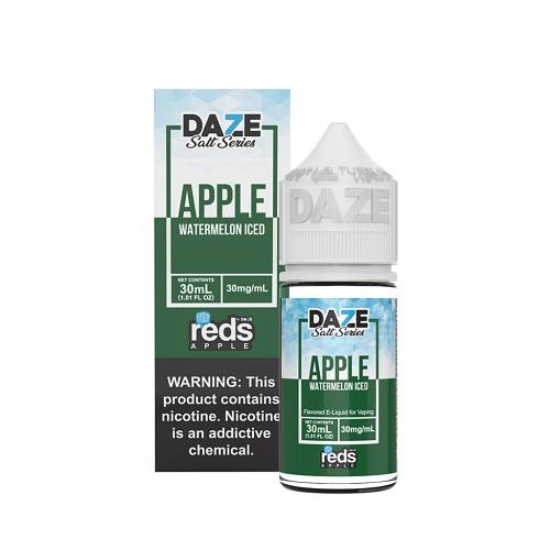 7 Daze Salt Series Vape Juice - Red's Apple Watermelon Iced