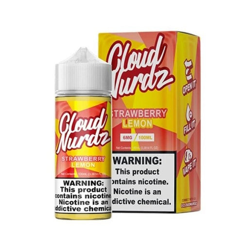Cloud Nurdz Vape Juice - Strawberry Lemon