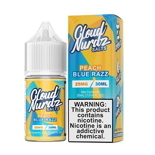Cloud Nurdz Salt Nic Vape Juice - Peach Blue Razz