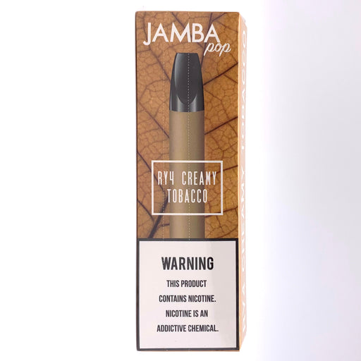 Jamba Pop Disposable Vape Pen - RY4 Creamy Tobacco