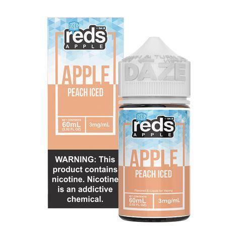 7 Daze Vape Juice - Red's Apple Peach Iced
