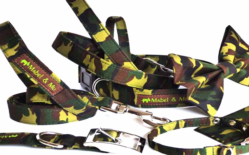 "Designer Dog & Cat Collar Range ""Camo"""