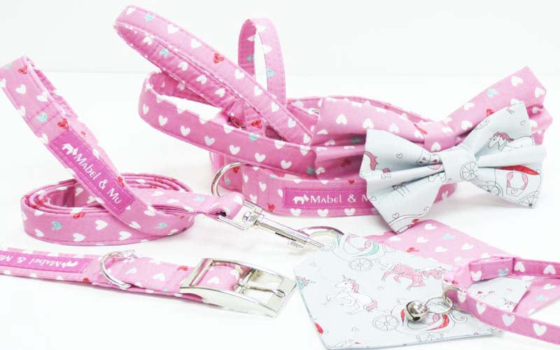 "Designer Dog & Cat Collar Range ""Princess & The Unicorn"""