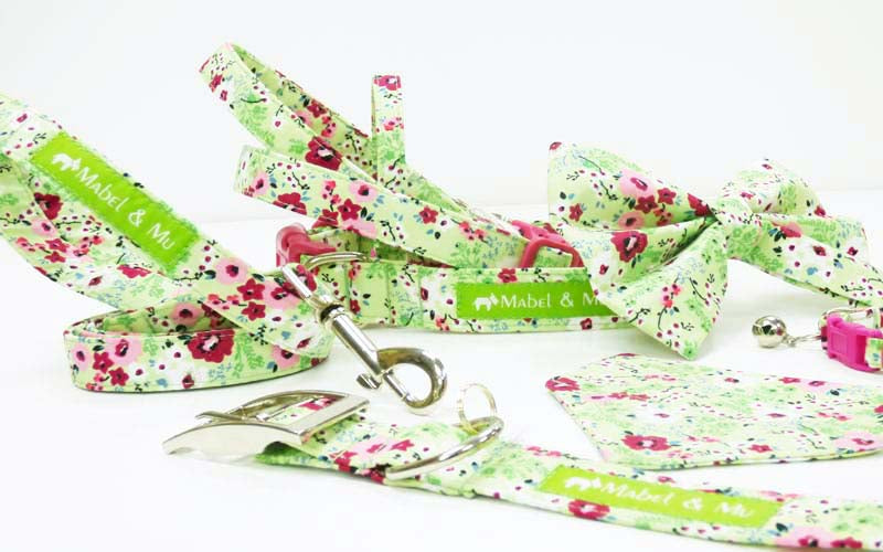 "Designer Dog & Cat Collar Range ""Meadow"""