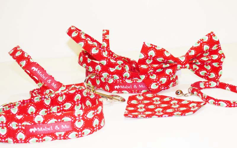 "Designer Dog & Cat Collar Range ""Peppermint Cream"""