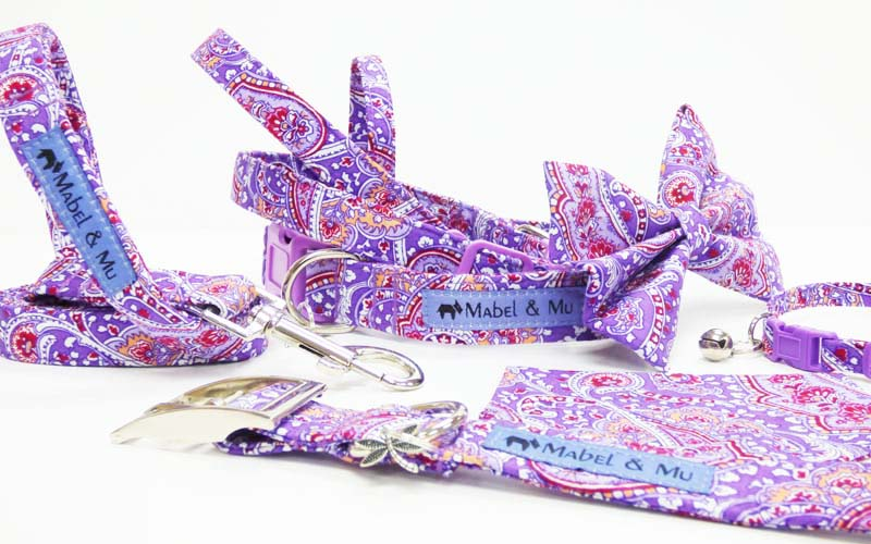 "Designer Dog & Cat Collar Range ""Lavender Scent"""