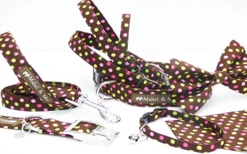 "Designer Dog & Cat Collar Range ""Choc Chip"""