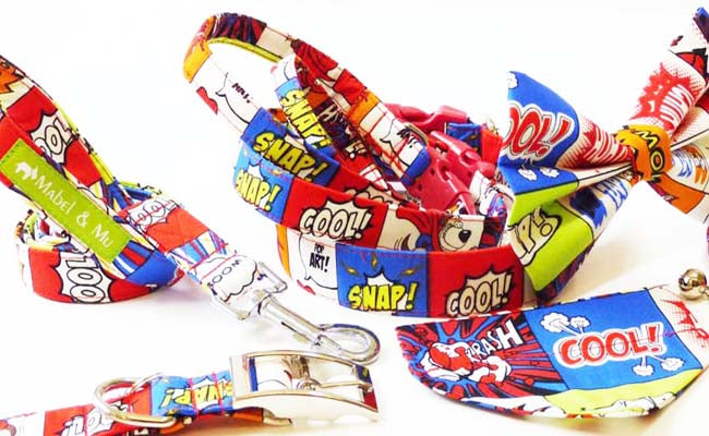 "Designer Dog Collar Range ""Comic"""