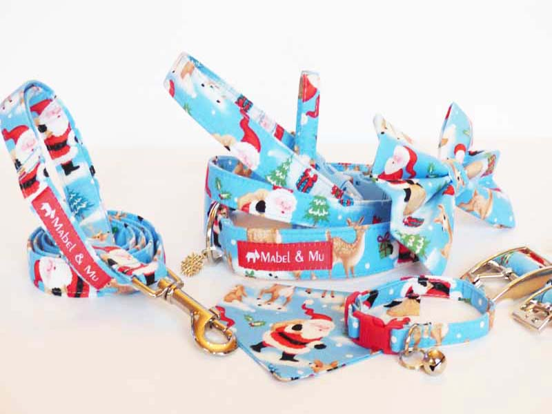 "Designer Dog & Cat Collars ""Wrapping Paper"" Range by Mabel & Mu"