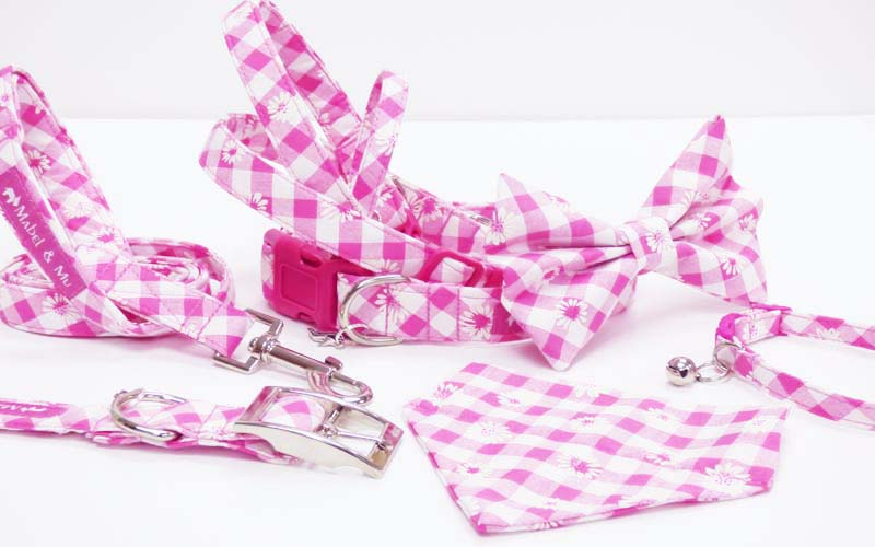 "Designer Dog & Cat Collar Range ""Daisies"" by Mabel & Mu"