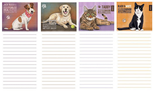 Dog & Cat Memo Pads @ Mabel & Mu