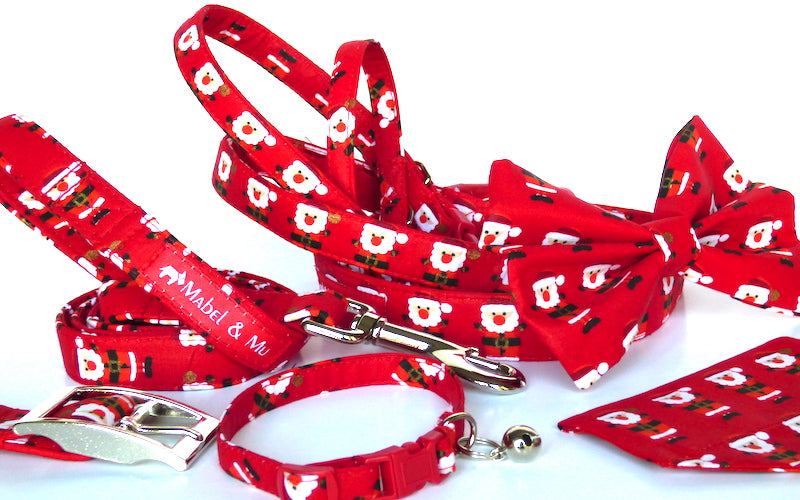 "Designer Dog & Cat Collar Range ""Red Santa"""