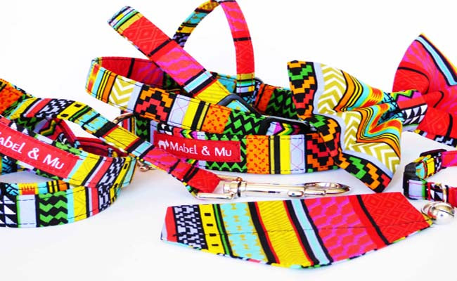 "Designer Dog Collar Range""Rainbow Red"""