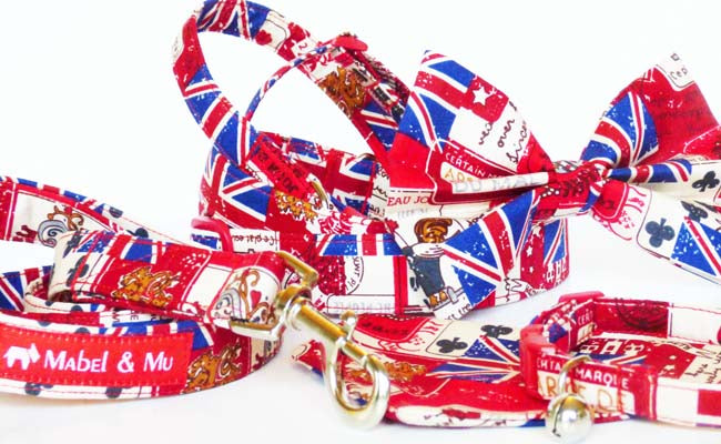 "Designer Dog Collar Range ""Vintage Britain"""