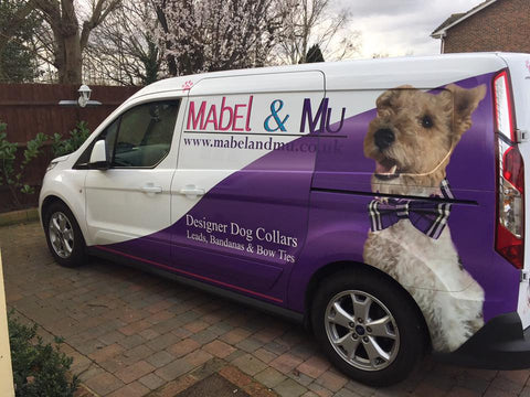 Berties Side of Mabel & Mu's Van