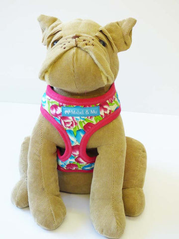 "Dog Harness ""Bloomin Tulips"" by Mabel & Mu"