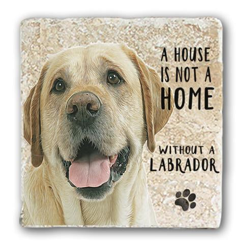 "Single Marble Coaster ""Yellow Lab"" @ Mabel & Mu"