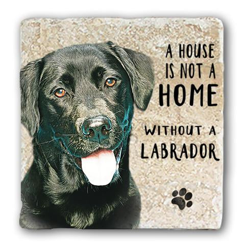 "Single Marble Coaster ""Black Lab"" @ Mabel & Mu"