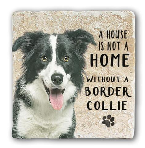 "Single Marble Coaster ""Border Collie"" @ Mabel & Mu"