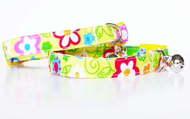 "Designer Cat & Kitten Collar ""Seventies"" by Mabel & Mu"