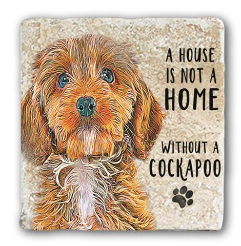 "Single Marble Coaster ""Cockapoo"" @ Mabel & Mu"