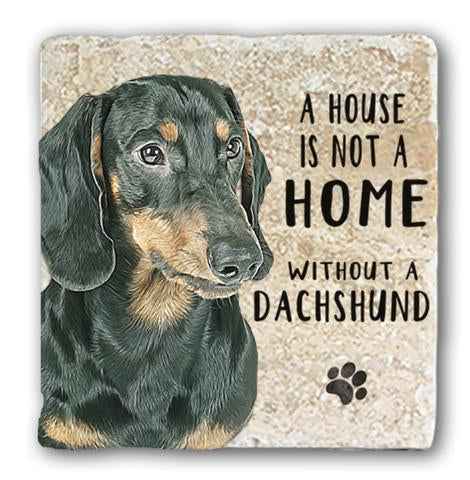 "Single Marble Coaster ""Dachshund"" @ Mabel & Mu"