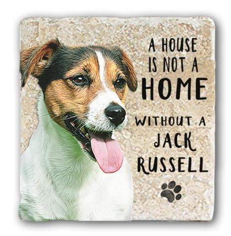 "Single Marble Coaster ""Jack Russell"" @ Mabel & Mu"