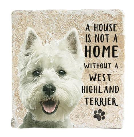 "Single Marble Coaster ""Westie"" @ Mabel & Mu"