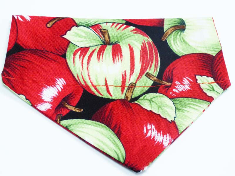 "Cat Bandana ""Apples"" by Mabel & Mu"
