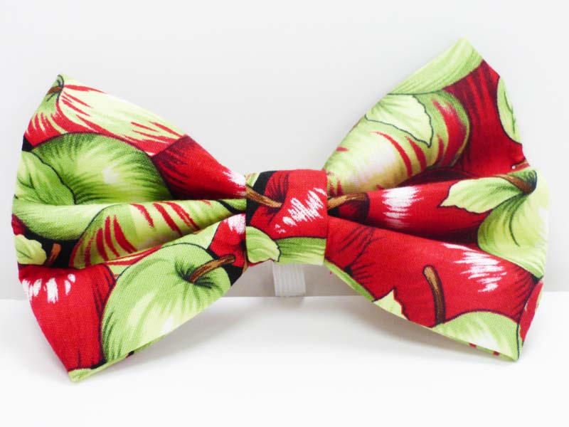 "Cat Bow Tie ""Apples"" by Mabel & Mu"
