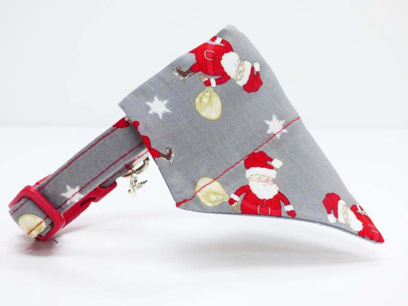 "Designer Dog & Cat Bandana ""Oh Santa"" by Mabel & Mu"