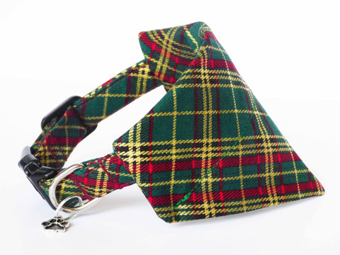 "Dog & Cat Collar Bandana ""Winter Pine"""