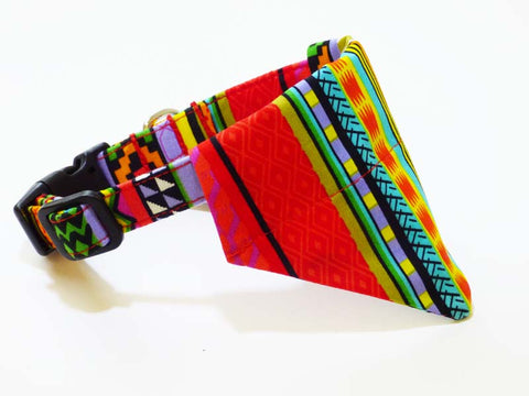 "Dog Collar Bandana ""Rainbow Red"""