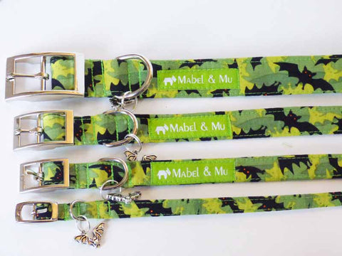 "Designer Buckle Dog Collar ""Bat Cave"" Range by Mabel & Mu"