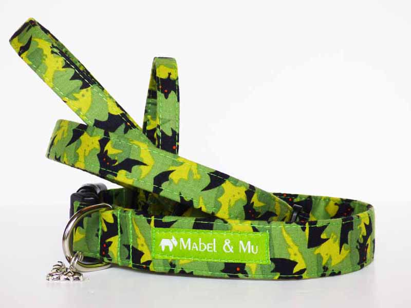 "Designer Dog Collars ""Bat Cave"" by Mabel & Mu"