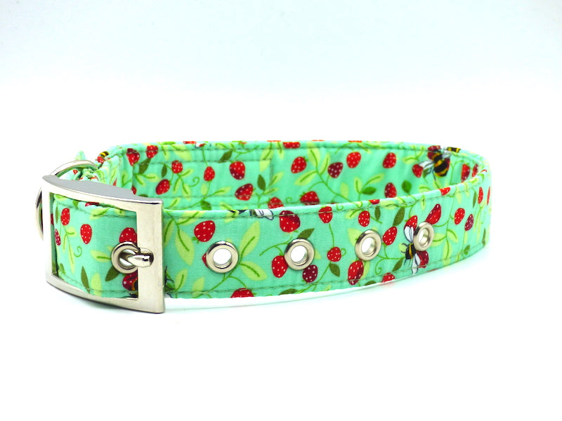 "Metal Dog Collar ""Bee-Happy"" by Mabel & Mu"
