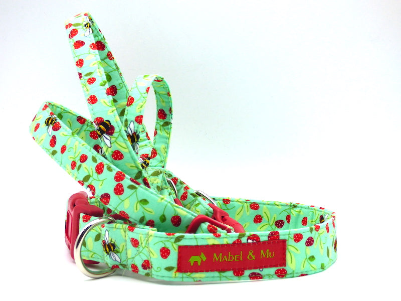 "Designer Dog Collar ""Bee Happy"" by Mabel & Mu"