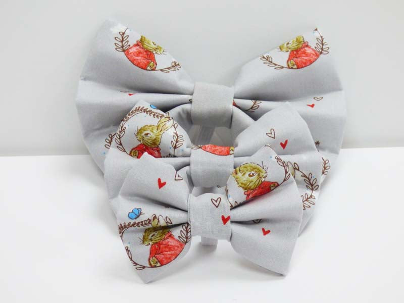 "Dog Bow Tie ""Flopsy Bunny in the lakes"" by Mabel & Mu"