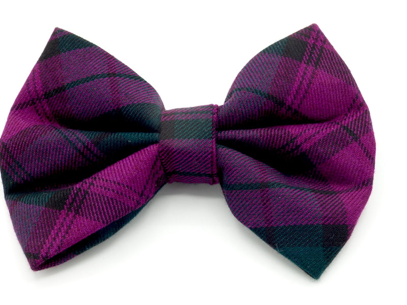 "Designer Dog & Cat Bow Tie ""Blackberry Walks"" by Mabel and Mu"