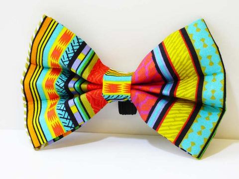 "Dog Collar Bow / Bow Tie   ""Rainbow Red"""