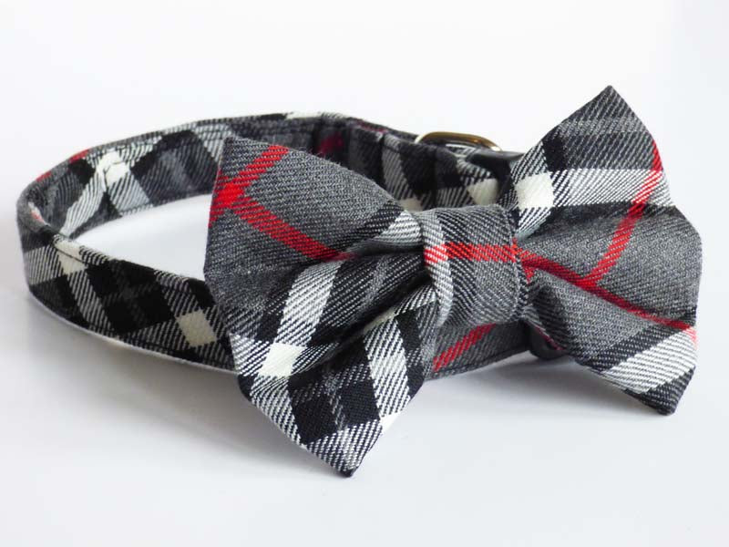 "Mabel & Mu ""Family Walks"" Dog & Cat Bow Tie"