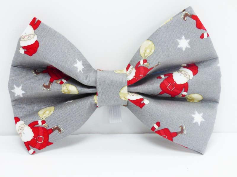 "Designer Dog & Cat Collar Bow ""Oh Santa"" by Mabel & Mu"