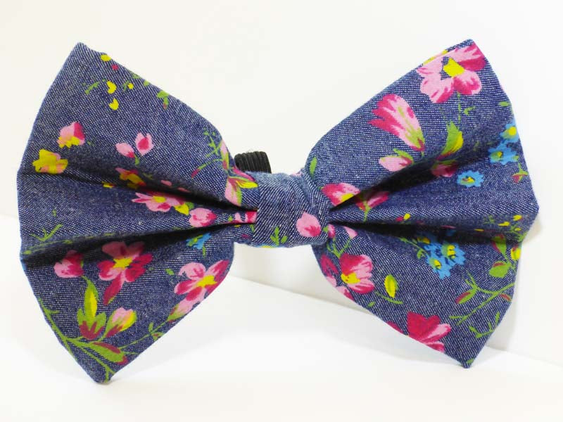 "Cat Collar bow tie ""Nashville"" Denim by Mabel & Mu"