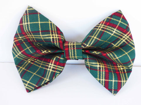 "Dog & Cat Collar Bow / Bow Tie  ""Winter Pine"""