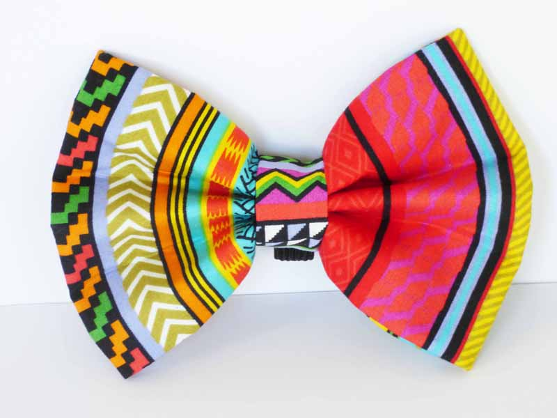 "Dog Harness Bow  ""Rainbow Red"" by Mabel & Mu"