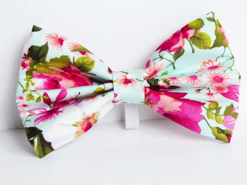Orchid Cat & Kitten bow tie  by Mabel & Mu