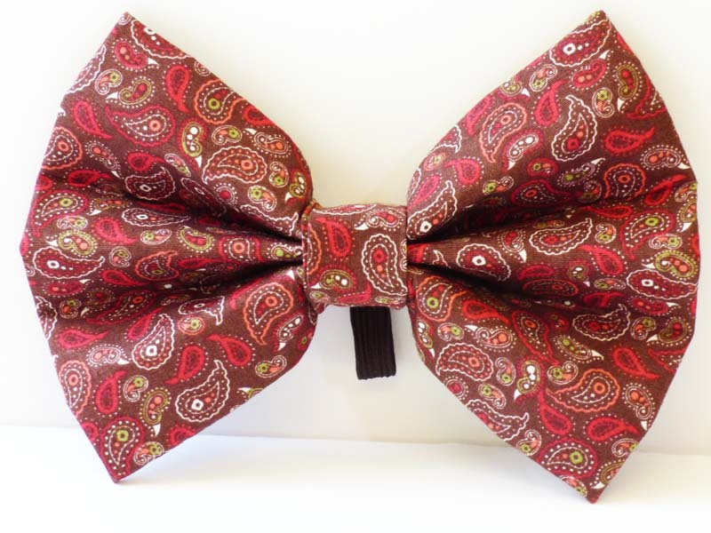 "cat & Kitten Collar Bow ""Enchanted Wood"" by Mabel & Mu"